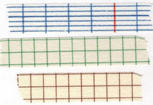 Load image into Gallery viewer, Classiky Washi Tape // Grid Set of 3 - 12mm (A)