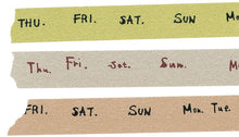 Load image into Gallery viewer, Classiky Washi Tape // Days of The Week Set