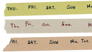 Classiky Washi Tape // Days of The Week Set