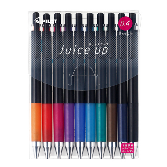 Pilot Juice Up 0.4mm Needle-Tip Gel Pen / 10 Color Set