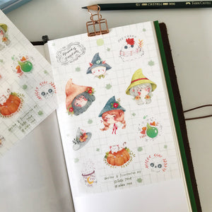 Qiara Spooky Season Washi Sticker Sheet