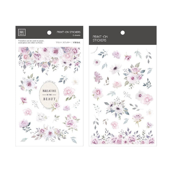 [NEW] Mu Craft Print-On Sticker // Rose & Beauty