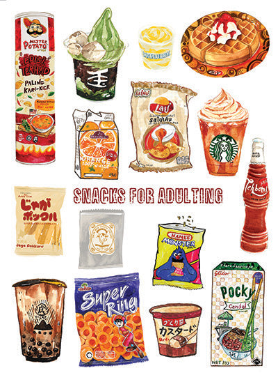 Snacks for Adulting Stickers