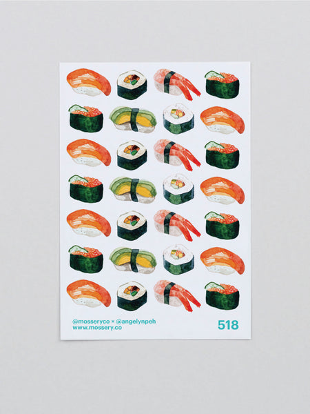 Mossery Planner Stickers / Sushi