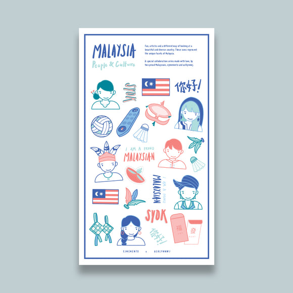 Malaysian People & Culture Stickers