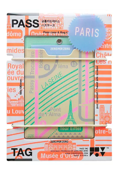 Zeroperzero Paris (Beige) Pass Tag
