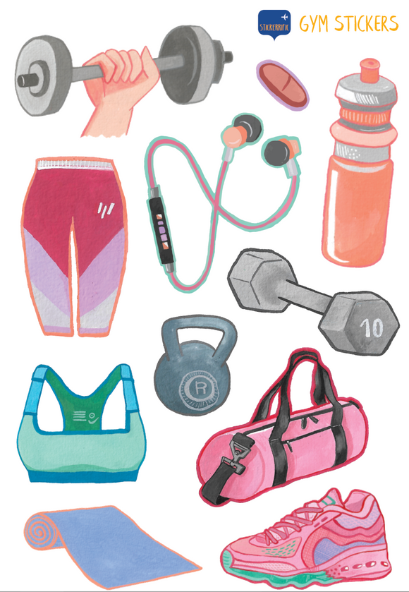 Gym Workout Stickers