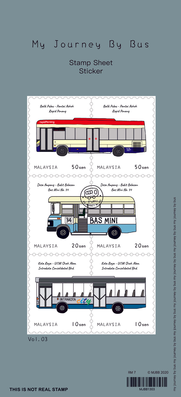 My Journey by Bus: Stamp Sheet Sticker