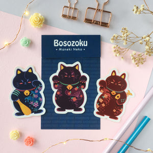 Bosozoku-Maneki Neko Sticker Pack