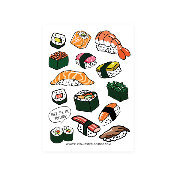 Flint and Steel Stickers / Sushi