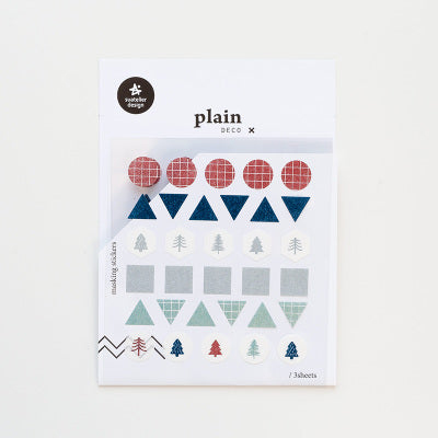 Suatelier Plain 12 Sticker Sheet