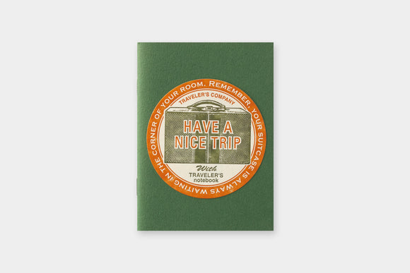 TRAVELER'S Company Travel Tools Collection: Letterpress Sticker (Red)