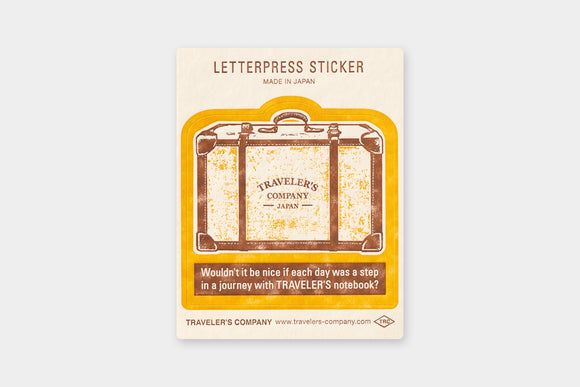 TRAVELER'S Company Travel Tools Collection: Letterpress Sticker (Yellow)