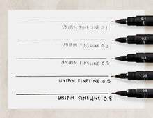 Load image into Gallery viewer, uni PIN Fine Line Drawing Pen // Black