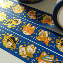 Load image into Gallery viewer, Artsyberry Doggonauts Gold Foil Washi Tape