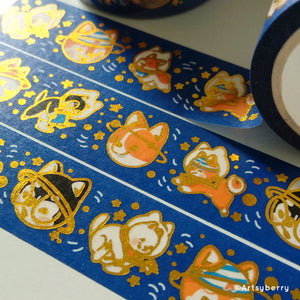 Artsyberry Doggonauts Gold Foil Washi Tape