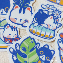 Load image into Gallery viewer, Artsyberry Waterproof Sticker // Garden of Kets