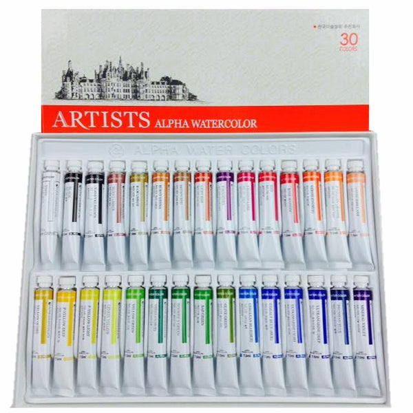 Alpha Artists Watercolors // 30 tubes