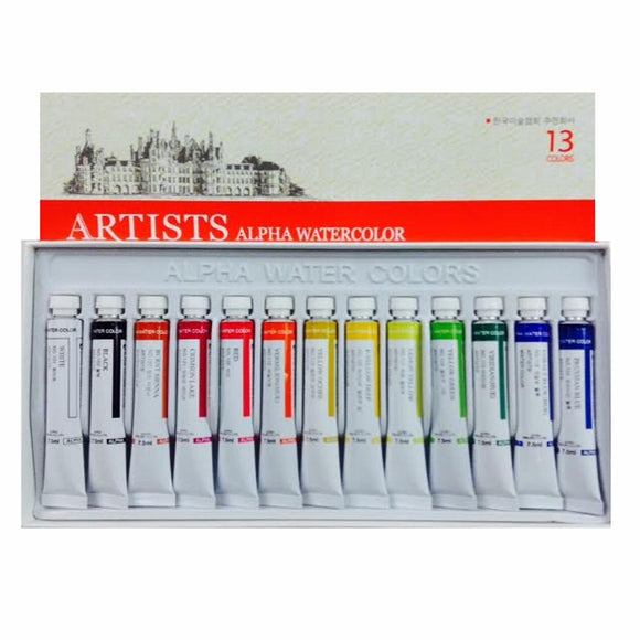 Alpha Artists Watercolors // 13 tubes