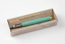 Load image into Gallery viewer, Traveler's Company Factory Green Brass Ballpoint Pen