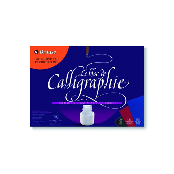 Brause A3 Assorted Colors Calligraphy Pad