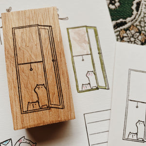 Catdoo Rubber Stamp // By the Window