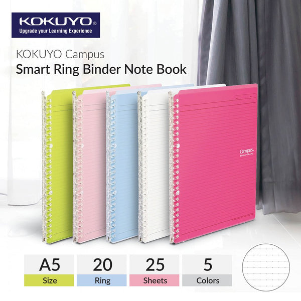 Campus Smart Ring Binder Refillable A5 Notebook / Ruled