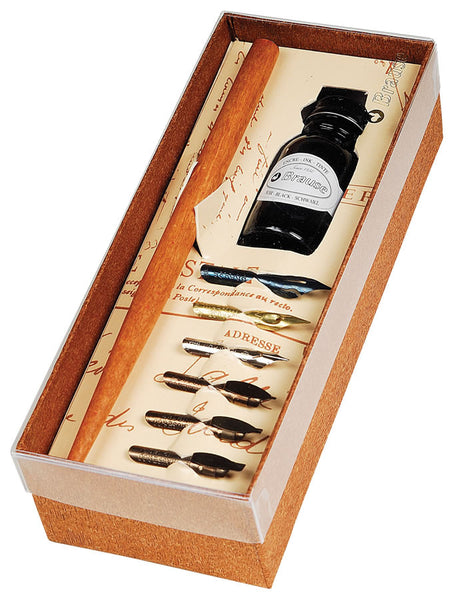 Brause Calligraphy Dip Pen and Ink Gift Set