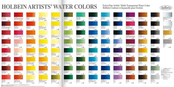 Holbein Artist's Watercolors in 5ml Tube (60)