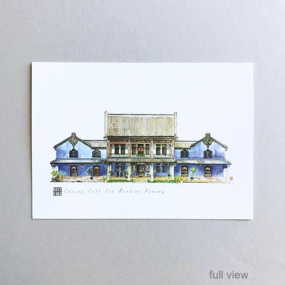 Blue Mansion Postcard
