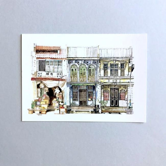 Penang Shophouse Postcard // PC01
