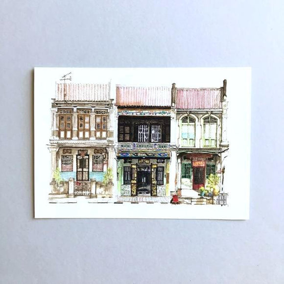 Penang Shophouse Postcard // PC02