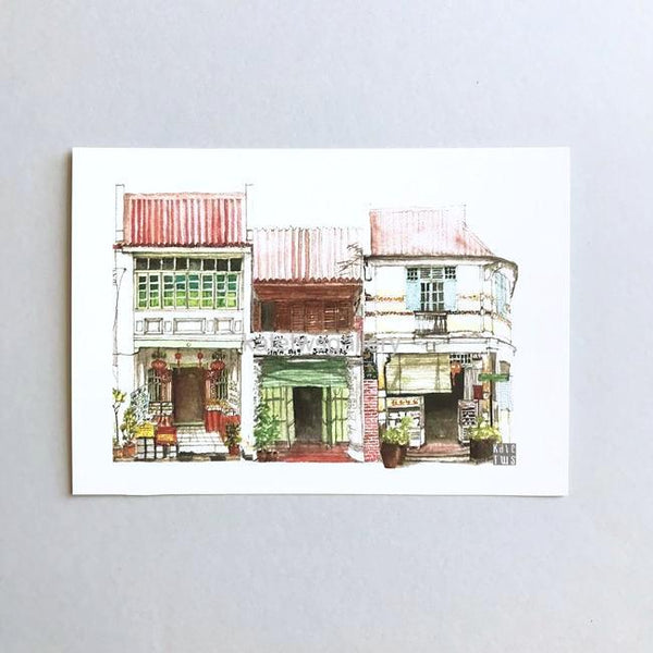 Penang Shophouse Postcard // PC06