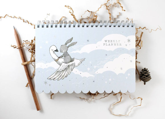 Whimsy Whimsical Weekly Planner - Rabbit & Swan