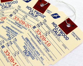 Hollywood Calif. Luggage Tag