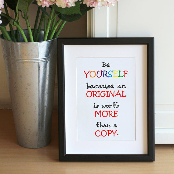 Be Yourself Mini Notecard Print