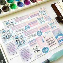 Load image into Gallery viewer, Artsunami Planner Stickers // Quotes IV