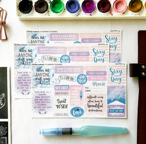 Artsunami Planner Stickers // Quotes IV