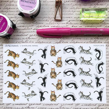 Load image into Gallery viewer, Artsunami Planner Stickers // Yoga Cats