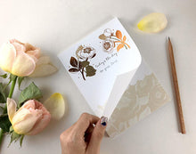 Load image into Gallery viewer, Whimsy Whimsical Notepad - Bear & David Austin Rose