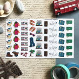 Artsunami Planner Stickers // Vacation