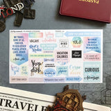 Artsunami Planner Stickers // Travel 02