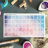 Artsunami Planner Stickers //  Watercolor Flags 02