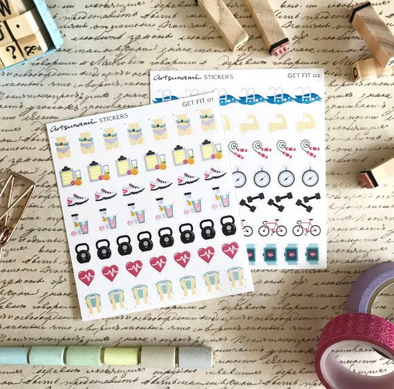 Artsunami Planner Stickers // Get Fit