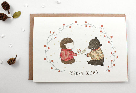 Whimsy Whimsical Christmas Greeting Card - Merry Xmas