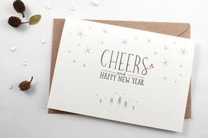 Whimsy Whimsical Christmas Greeting Card - Cheers & Happy New Year