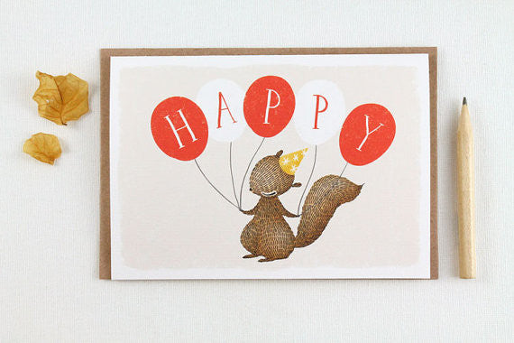 Happy Balloons - Greeting Card
