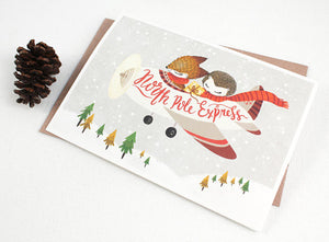 Whimsy Whimsical Christmas Greeting Card - North Pole Express