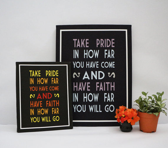 Take Pride Christian Larson Inspirational Quote Notecard Print