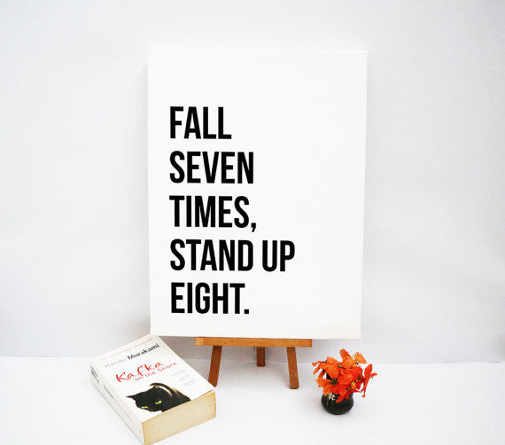 Fall Seven Times Stand Up Eight Notecard Print